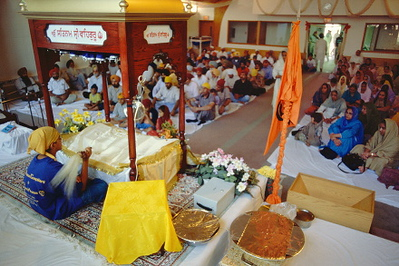 Diwan Worship at Guru Nanak Sikh Gurdwara (Plymouth, MI)
