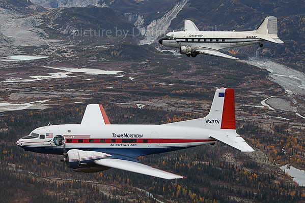 2019-09-28 N30TN C117 Trans Northern / N44587 DC3 Desert Air