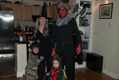 All ready to go trick-or-treat!