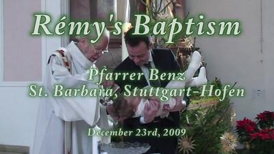 Rémy baptism - die Taufe