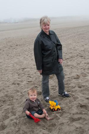 Foggy beach - but good fun