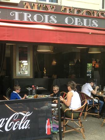"""Across from PSG, """"Aux Trois Obus"""" (porte de St.Cloud)"""