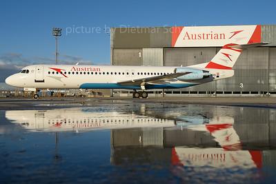 2016-12-02 OE-LVO Fokker 100 Austrian Airlines