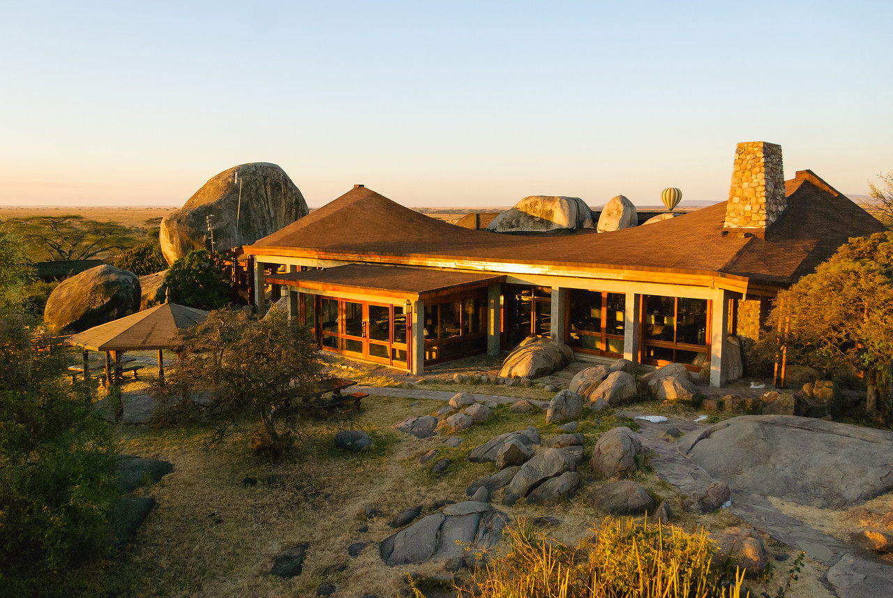 The Seronera Lodge at sunrise