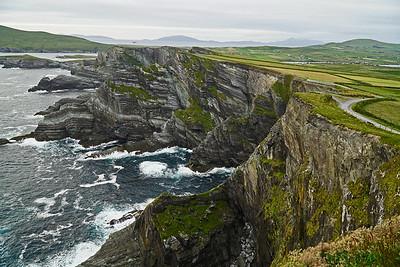 Su 6/25 Southwest Ireland. Kerry Cliffs, looking north.