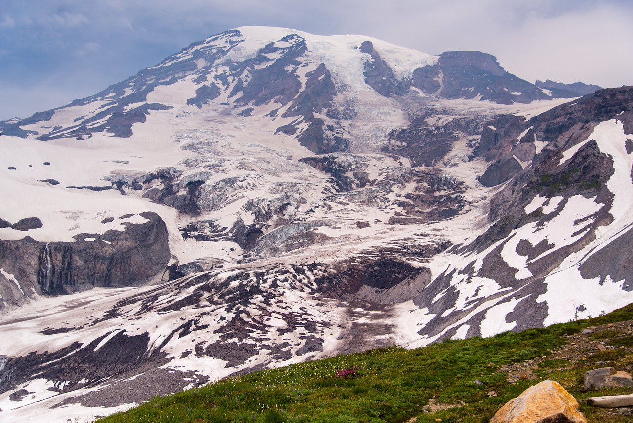 The glaciers on Mt. Rainier