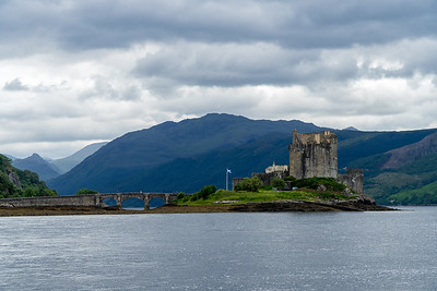 We 6/28  Scottish Highlands.  Eilean Donan Castle, viewed from the north.