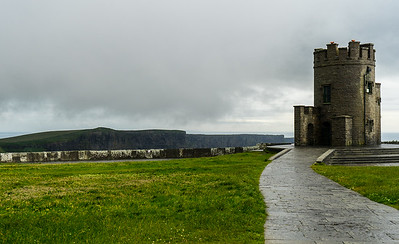 Mo 6/26 Western Ireland.  O'Brien's Tower, on the highest point of the Cliffs of Moher