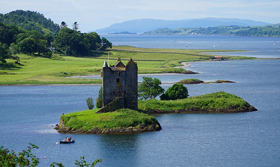 """We 6/28  Western Scotland.  Stalker Castle.  You may recognize it as The Castle Aaaaaarrrrggghhh from """"Monty Ponty and the Holy Grail.""""  Our quest is at an end."""