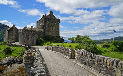 We 6/28  Scottish Highlands.  Eilean Donan Castle, the first castle of Clan MacKenzie, built in the 1200's, renovated in the 1900's.