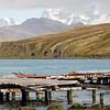 Derelict dock in Grytviken, South Georgia, British Sub-Antarctic Territory