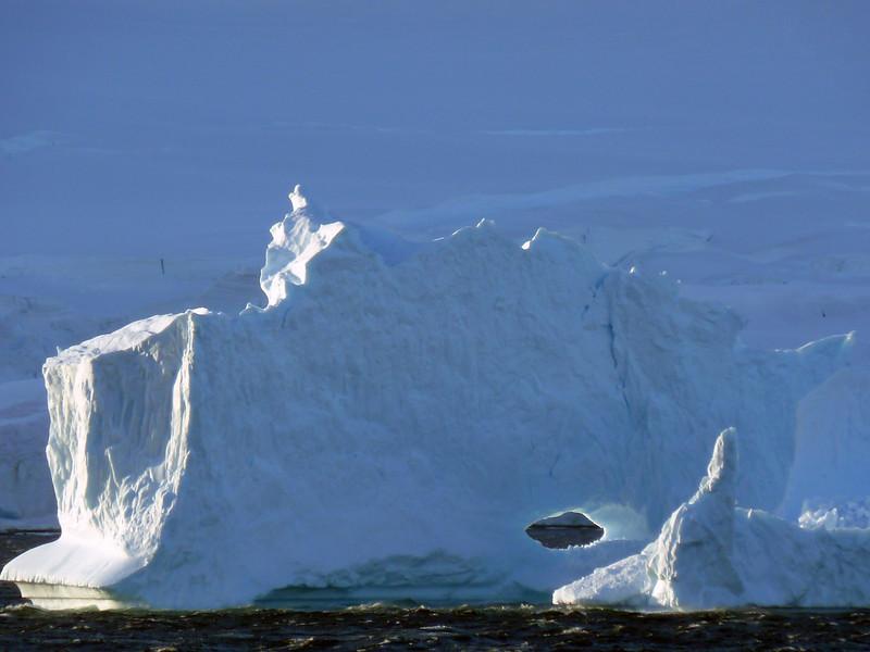 Statuesque iceberg in the Gerlache Strait, Antarctic peninsula