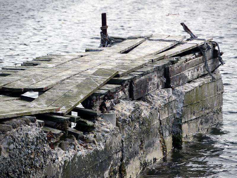 Abandoned pier on Carcass Island, Falkland Islands