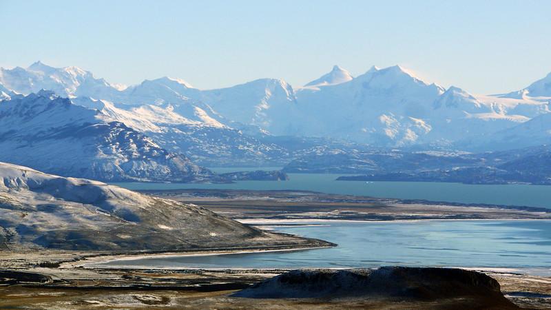 Atop the Cerro Huyliche plateau, overlooking Lago Argentino in Patagonia, Argentina