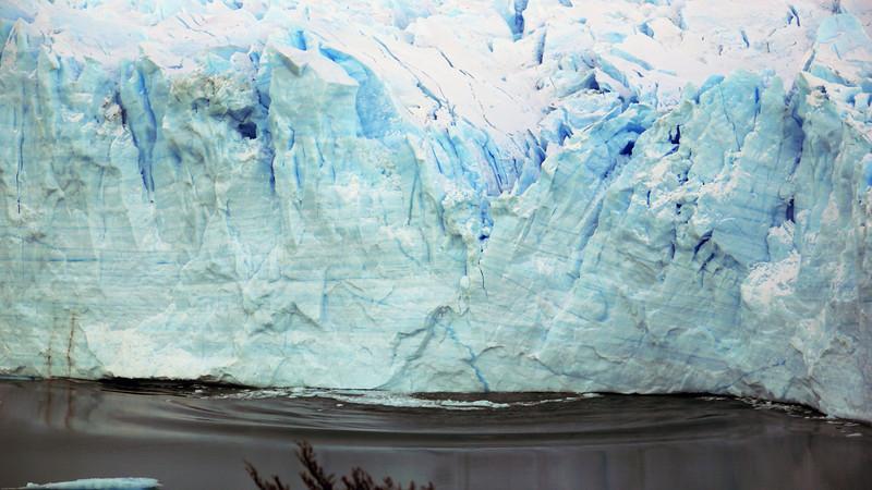 Calving Perito Moreno glacier at Los Glaciares national park in Patagonia, Argentina