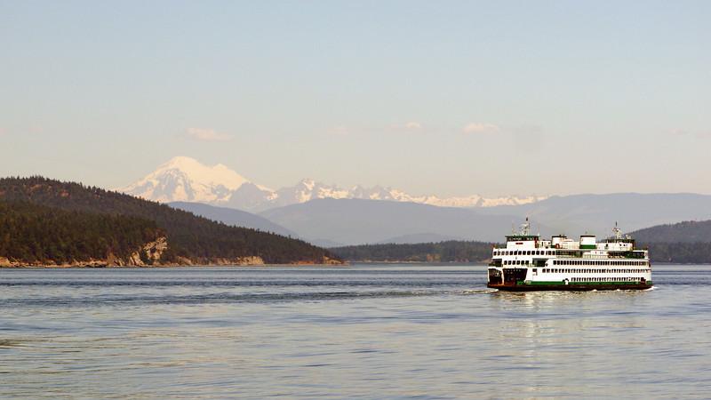Ferry service in the San Juan islands in northwest Washington state