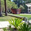 Richard Serra sculpture on UCLA campus in Los Angeles, California