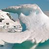 """""""Whale tail"""" iceberg in Neko Harbour, Mainland Antarctic Peninsula"""
