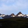 Late summer mountaintops above the Salisbury Plain, South Georgia, British Sub-Antarctic Territory