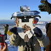 Festive homemade eclipse viewer for the total solar eclipse of 11 July 2010, atop the Cerro Huyliche plateau in Patagonia, Argentina
