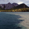 Mysterious coloured waters in Cooper Bay, South Georgia, British Sub-Antarctic Territory