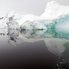 Mirror reflection of iceberg in the Crystal Sound, Antarctic peninsula