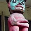Totem at the Burke musuem of art in Seattle, Washington