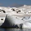 Rotated iceberg, (formerly underwater), in Neko Harbour, Mainland Antarctic Peninsula