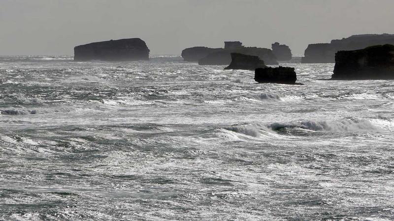 Rough seas along the Great Ocean Road, Victoria, Australia