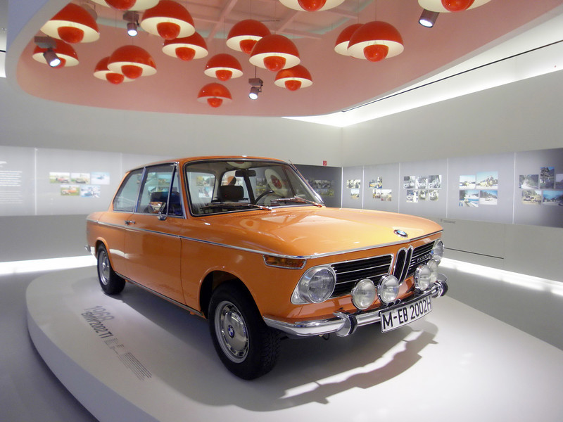 """Flip's first car """"Mabel"""" gets star treatment at the BMW Museum in Munich, Germany."""
