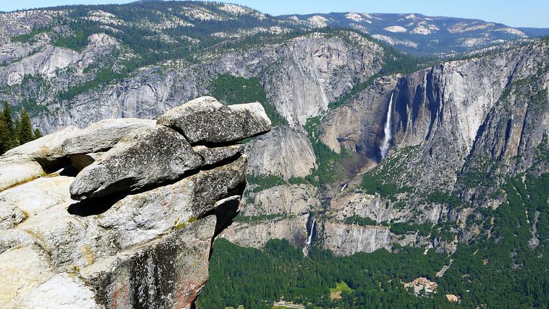Signature view overlooking the falls in Yosemite National park, California