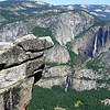 Signature view overlooking the falls in Yosemite National park, California