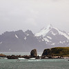 Dramatic mountainous terrain at Cooper Bay, South Georgia, British Sub-Antarctic Territory