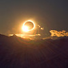 "The ""diamond ring"" signifies the end of the total solar eclipse of 11 July 2010 seen from atop the Cerro Huyliche plateau in Patagonia, Argentina"