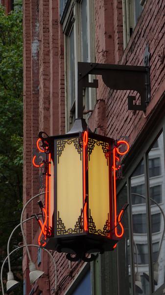 Lantern detail in Pioneer Square - Seattle, Washington