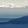 View to Vancouver island, across the San Juan islands, in northwest Washignton state