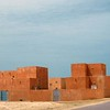 Richly coloured public housing in Nouakchott, Mauritania.
