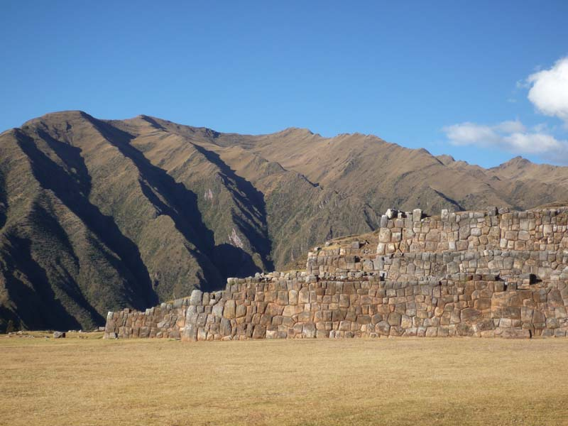 Well kept ancient complex in Chinchero Peru.