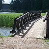 Scenic bridge in the gardens surrounding Radzivill castle in rural Belarus