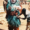 Bush spirits dance mask gets a touch up in Pouni village