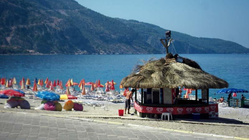 "Beachside ""culture"" at Oludeniz, Turkey, along the Lycan way."
