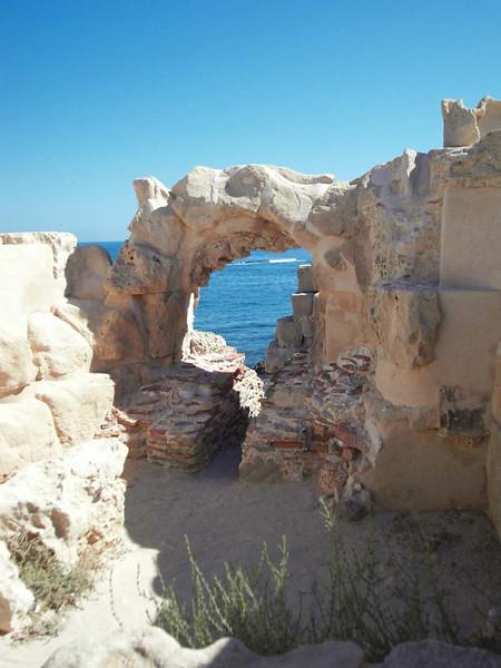 Ancient stone arch at Sabaratha, Libya