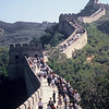 Summertime visit to the Great Wall near Beijing China.