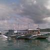 Boats off the coast of El Nido in Palawan, Philippines.