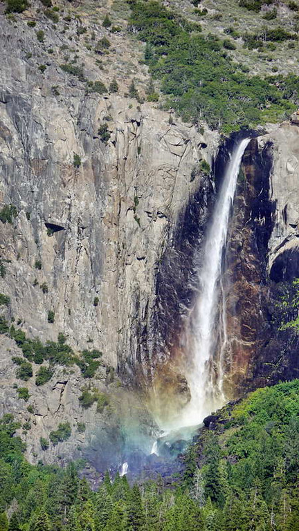 Rainbow falls in Yosemite National park, California