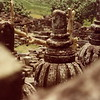 Borobudor stupa detail view, Central Java, Indonesia.