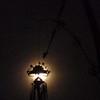 Yadnya Kasada decorations eclipse the moon in East Java Indonesia.