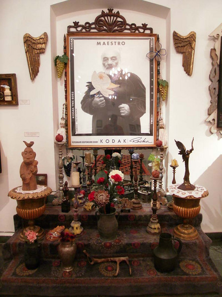 Self portrait montage of Armenia's most famous artist in Yerevan Armenia.
