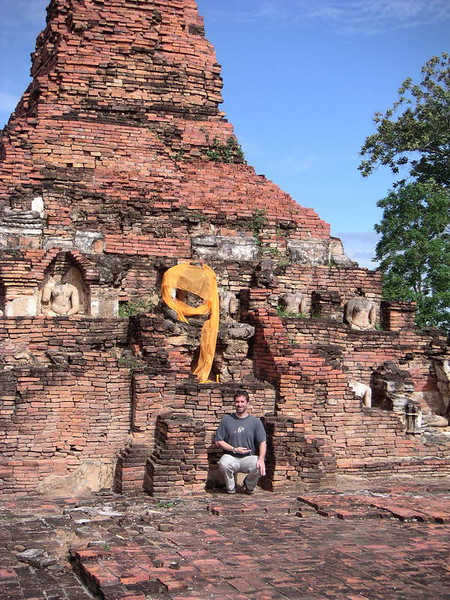 """A coincidental """"9"""" appears on a visit to a temple in Thailand's ancient capital on Flip's 45th birthday: September 9th!"""