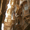 A cavalcade of architectural facade details in Jaiselmer, Rajastan India.